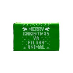 Ugly Christmas Ya Filthy Animal Cosmetic Bag (XS)