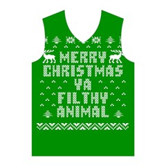 Ugly Christmas Ya Filthy Animal Men s Basketball Tank Top
