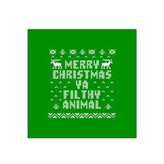 Ugly Christmas Ya Filthy Animal Satin Bandana Scarf