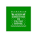 Ugly Christmas Ya Filthy Animal Satin Bandana Scarf Front