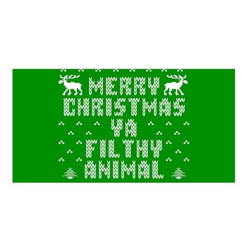Ugly Christmas Ya Filthy Animal Satin Shawl