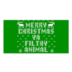 Ugly Christmas Ya Filthy Animal Satin Shawl
