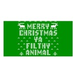 Ugly Christmas Ya Filthy Animal Satin Shawl Front