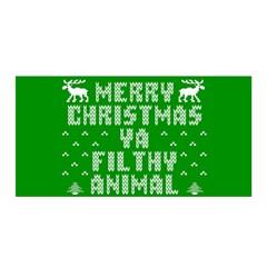 Ugly Christmas Ya Filthy Animal Satin Wrap