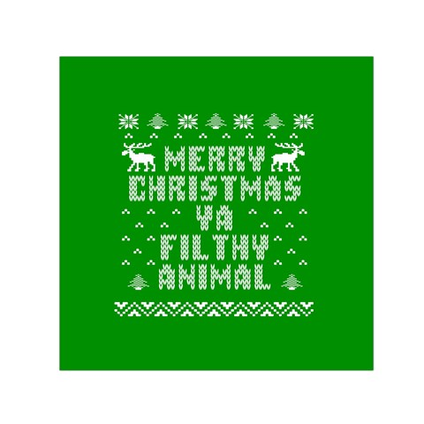 Ugly Christmas Ya Filthy Animal Small Satin Scarf (Square)
