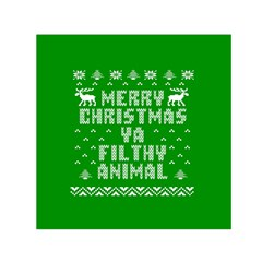 Ugly Christmas Ya Filthy Animal Small Satin Scarf (Square)
