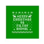 Ugly Christmas Ya Filthy Animal Small Satin Scarf (Square) Front