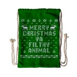 Ugly Christmas Ya Filthy Animal Drawstring Bag (Small) Back