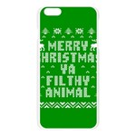 Ugly Christmas Ya Filthy Animal Apple Seamless iPhone 6 Plus/6S Plus Case (Transparent) Front