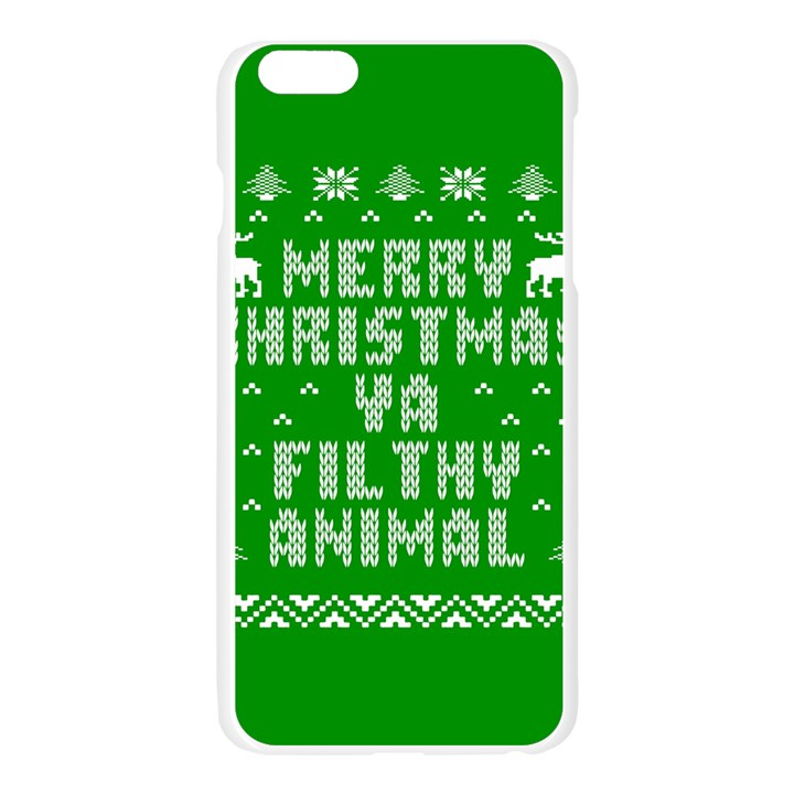 Ugly Christmas Ya Filthy Animal Apple Seamless iPhone 6 Plus/6S Plus Case (Transparent)