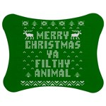 Ugly Christmas Ya Filthy Animal Jigsaw Puzzle Photo Stand (Bow) Front