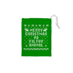 Ugly Christmas Ya Filthy Animal Drawstring Pouches (xs)