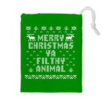 Ugly Christmas Ya Filthy Animal Drawstring Pouches (Extra Large) Front