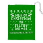 Ugly Christmas Ya Filthy Animal Drawstring Pouches (XXL) Front