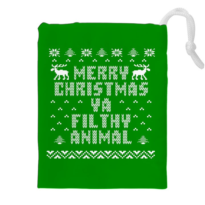 Ugly Christmas Ya Filthy Animal Drawstring Pouches (XXL)