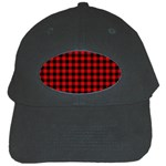 Lumberjack Plaid Fabric Pattern Red Black Black Cap Front
