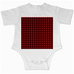 Lumberjack Plaid Fabric Pattern Red Black Infant Creepers Front