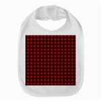 Lumberjack Plaid Fabric Pattern Red Black Bib Front