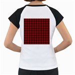 Lumberjack Plaid Fabric Pattern Red Black Women s Cap Sleeve T Back