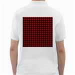 Lumberjack Plaid Fabric Pattern Red Black Golf Shirts Back