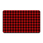 Lumberjack Plaid Fabric Pattern Red Black Magnet (Rectangular) Front