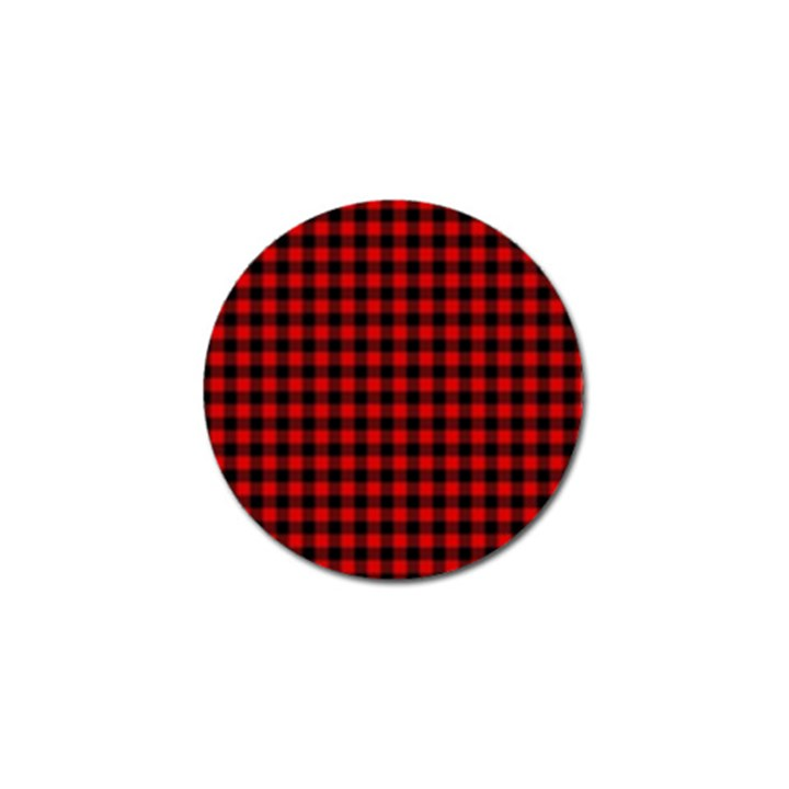 Lumberjack Plaid Fabric Pattern Red Black Golf Ball Marker (10 pack)