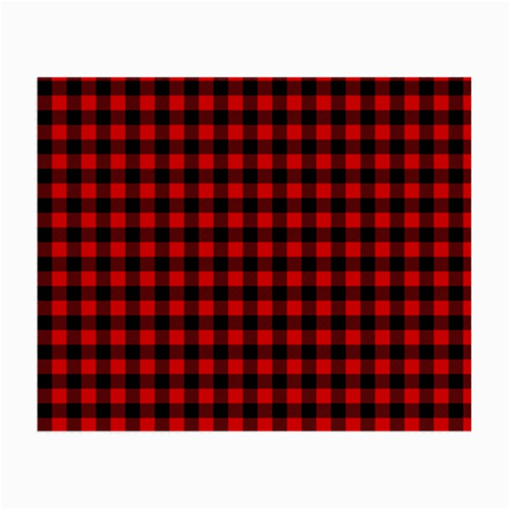 Lumberjack Plaid Fabric Pattern Red Black Small Glasses Cloth