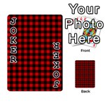 Lumberjack Plaid Fabric Pattern Red Black Playing Cards 54 Designs  Front - Joker1