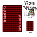 Lumberjack Plaid Fabric Pattern Red Black Playing Cards 54 Designs  Front - Joker2