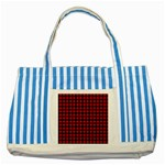 Lumberjack Plaid Fabric Pattern Red Black Striped Blue Tote Bag Front