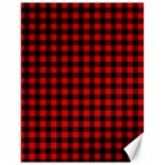 Lumberjack Plaid Fabric Pattern Red Black Canvas 18  x 24   24 x18 Canvas - 1