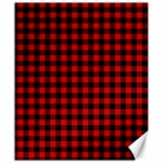 Lumberjack Plaid Fabric Pattern Red Black Canvas 20  x 24   24 x20 Canvas - 1