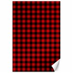 Lumberjack Plaid Fabric Pattern Red Black Canvas 20  x 30   30 x20 Canvas - 1