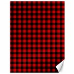 Lumberjack Plaid Fabric Pattern Red Black Canvas 36  x 48   48 x36 Canvas - 1