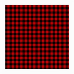 Lumberjack Plaid Fabric Pattern Red Black Medium Glasses Cloth (2 Side)