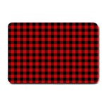 Lumberjack Plaid Fabric Pattern Red Black Small Doormat  24 x16 Door Mat - 1
