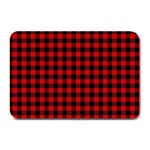 Lumberjack Plaid Fabric Pattern Red Black Plate Mats 18 x12 Plate Mat - 1