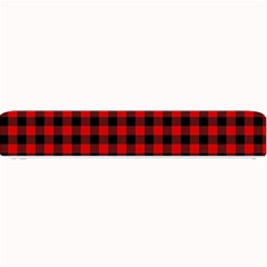 Lumberjack Plaid Fabric Pattern Red Black Small Bar Mats