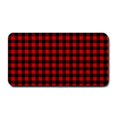 Lumberjack Plaid Fabric Pattern Red Black Medium Bar Mats