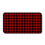 Lumberjack Plaid Fabric Pattern Red Black Medium Bar Mats 16 x8.5 Bar Mat - 1