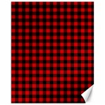 Lumberjack Plaid Fabric Pattern Red Black Canvas 11  x 14   14 x11 Canvas - 1