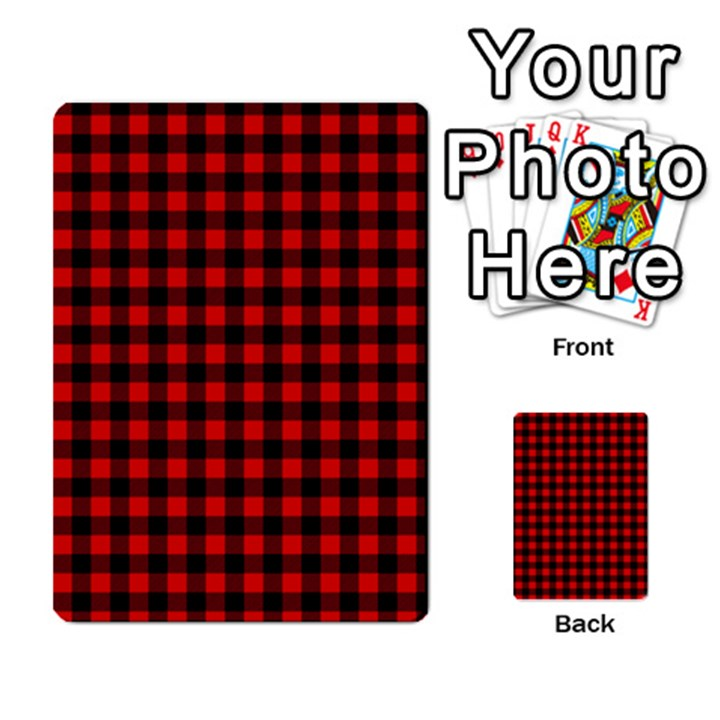 Lumberjack Plaid Fabric Pattern Red Black Multi-purpose Cards (Rectangle)