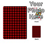 Lumberjack Plaid Fabric Pattern Red Black Multi-purpose Cards (Rectangle)  Back 45