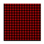 Lumberjack Plaid Fabric Pattern Red Black Face Towel Front