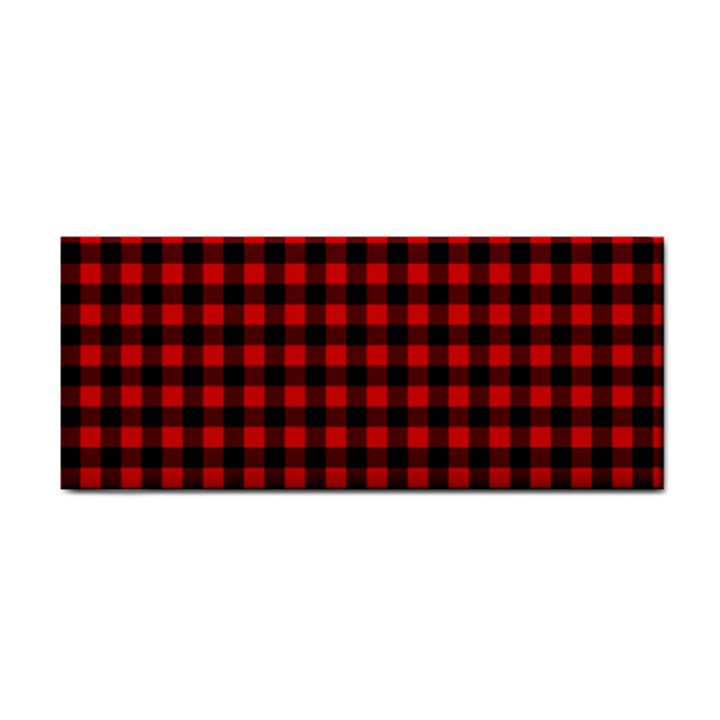 Lumberjack Plaid Fabric Pattern Red Black Hand Towel