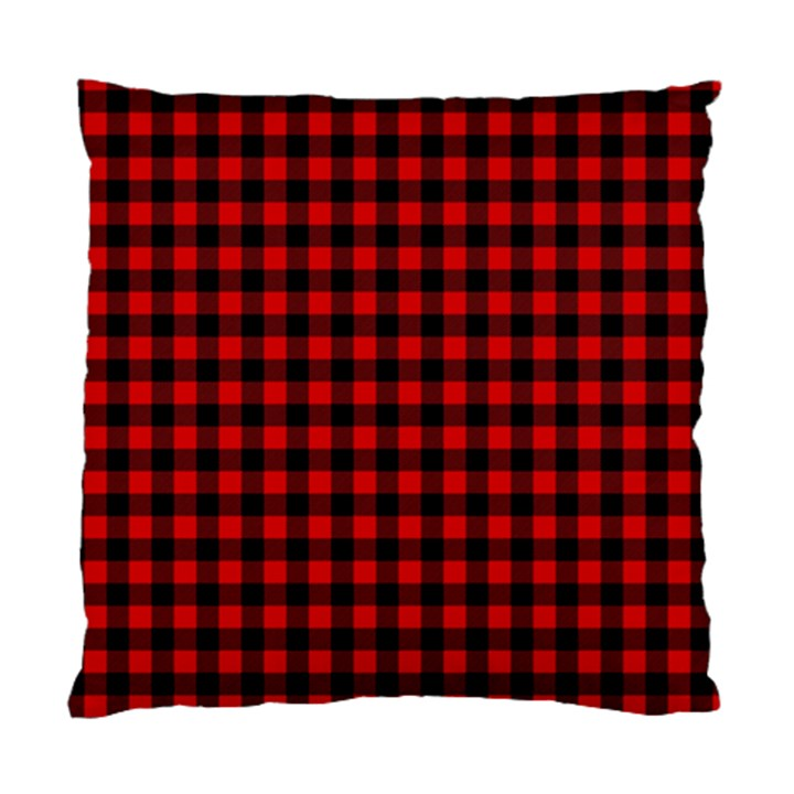 Lumberjack Plaid Fabric Pattern Red Black Standard Cushion Case (One Side)
