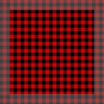 Lumberjack Plaid Fabric Pattern Red Black Mini Canvas 8  x 8  8  x 8  x 0.875  Stretched Canvas