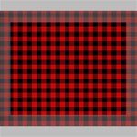 Lumberjack Plaid Fabric Pattern Red Black Canvas 10  x 8  10  x 8  x 0.875  Stretched Canvas