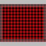 Lumberjack Plaid Fabric Pattern Red Black Canvas 14  x 11  14  x 11  x 0.875  Stretched Canvas