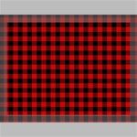 Lumberjack Plaid Fabric Pattern Red Black Canvas 16  x 12  16  x 12  x 0.875  Stretched Canvas